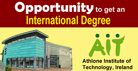 Opportunity to get an International B.E. Degree at AIT, Ireland